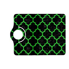 Tile1 Black Marble & Green Colored Pencil Kindle Fire Hd (2013) Flip 360 Case