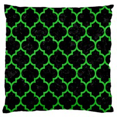 Tile1 Black Marble & Green Colored Pencil Large Flano Cushion Case (one Side)
