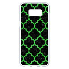 Tile1 Black Marble & Green Colored Pencil Samsung Galaxy S8 Plus White Seamless Case