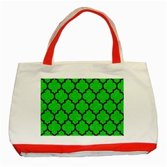 Tile1 Black Marble & Green Colored Pencil (r) Classic Tote Bag (red)
