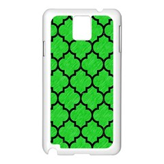 Tile1 Black Marble & Green Colored Pencil (r) Samsung Galaxy Note 3 N9005 Case (white)