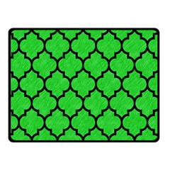 Tile1 Black Marble & Green Colored Pencil (r) Double Sided Fleece Blanket (small)