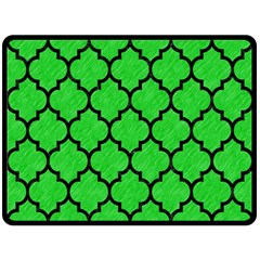 Tile1 Black Marble & Green Colored Pencil (r) Double Sided Fleece Blanket (large)