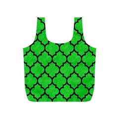 Tile1 Black Marble & Green Colored Pencil (r) Full Print Recycle Bags (s)