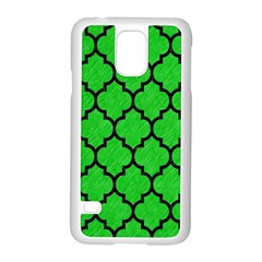 Tile1 Black Marble & Green Colored Pencil (r) Samsung Galaxy S5 Case (white)