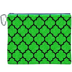 Tile1 Black Marble & Green Colored Pencil (r) Canvas Cosmetic Bag (xxxl)