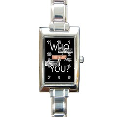 Who Are You Rectangle Italian Charm Watch