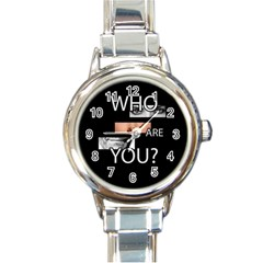 Who Are You Round Italian Charm Watch