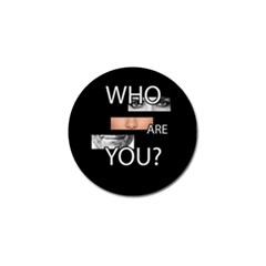 Who Are You Golf Ball Marker (10 Pack)