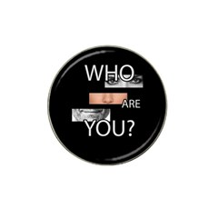 Who Are You Hat Clip Ball Marker (4 Pack)