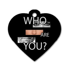 Who Are You Dog Tag Heart (two Sides)