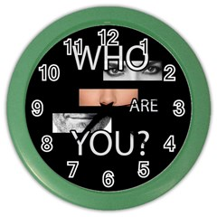 Who Are You Color Wall Clocks