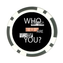 Who Are You Poker Chip Card Guard (10 Pack)