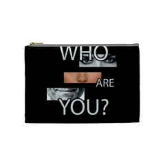 Who Are You Cosmetic Bag (medium)