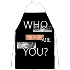 Who Are You Full Print Aprons