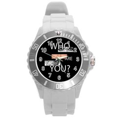 Who Are You Round Plastic Sport Watch (l)