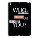 Who are you Apple iPad Mini Case (Black) Front