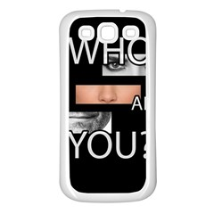 Who Are You Samsung Galaxy S3 Back Case (white)