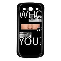 Who Are You Samsung Galaxy S3 Back Case (black)