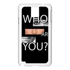 Who Are You Samsung Galaxy Note 3 N9005 Case (white)