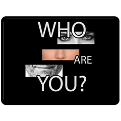 Who Are You Double Sided Fleece Blanket (large)