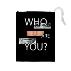 Who Are You Drawstring Pouches (large)