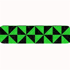 Triangle1 Black Marble & Green Colored Pencil Large Bar Mats