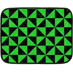 Triangle1 Black Marble & Green Colored Pencil Fleece Blanket (mini)