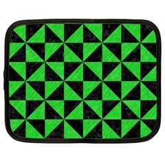 Triangle1 Black Marble & Green Colored Pencil Netbook Case (xxl)