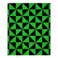 Triangle1 Black Marble & Green Colored Pencil Shower Curtain 60  X 72  (medium)