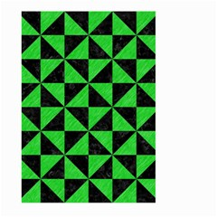 Triangle1 Black Marble & Green Colored Pencil Large Garden Flag (two Sides)