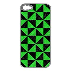 Triangle1 Black Marble & Green Colored Pencil Apple Iphone 5 Case (silver)