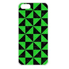 Triangle1 Black Marble & Green Colored Pencil Apple Iphone 5 Seamless Case (white)
