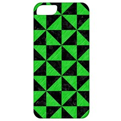 Triangle1 Black Marble & Green Colored Pencil Apple Iphone 5 Classic Hardshell Case