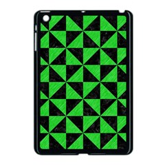 Triangle1 Black Marble & Green Colored Pencil Apple Ipad Mini Case (black)