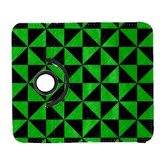 Triangle1 Black Marble & Green Colored Pencil Galaxy S3 (flip/folio)