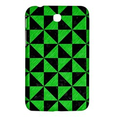Triangle1 Black Marble & Green Colored Pencil Samsung Galaxy Tab 3 (7 ) P3200 Hardshell Case