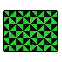 Triangle1 Black Marble & Green Colored Pencil Double Sided Fleece Blanket (small)