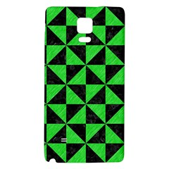 Triangle1 Black Marble & Green Colored Pencil Galaxy Note 4 Back Case