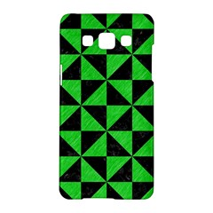 Triangle1 Black Marble & Green Colored Pencil Samsung Galaxy A5 Hardshell Case