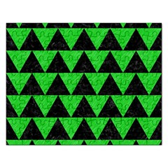Triangle2 Black Marble & Green Colored Pencil Rectangular Jigsaw Puzzl