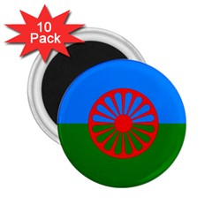 Gypsy Flag 2 25  Magnets (10 Pack)
