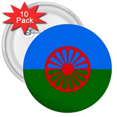 Gypsy Flag 3  Buttons (10 Pack)