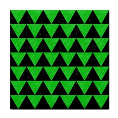 Triangle2 Black Marble & Green Colored Pencil Face Towel