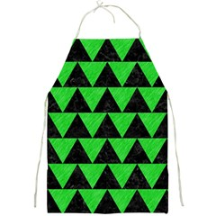 Triangle2 Black Marble & Green Colored Pencil Full Print Aprons