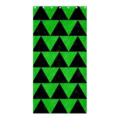 Triangle2 Black Marble & Green Colored Pencil Shower Curtain 36  X 72  (stall)
