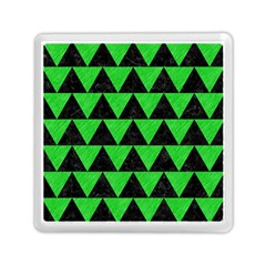 Triangle2 Black Marble & Green Colored Pencil Memory Card Reader (square)