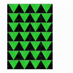 Triangle2 Black Marble & Green Colored Pencil Small Garden Flag (two Sides)