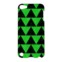 Triangle2 Black Marble & Green Colored Pencil Apple Ipod Touch 5 Hardshell Case