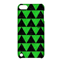 Triangle2 Black Marble & Green Colored Pencil Apple Ipod Touch 5 Hardshell Case With Stand